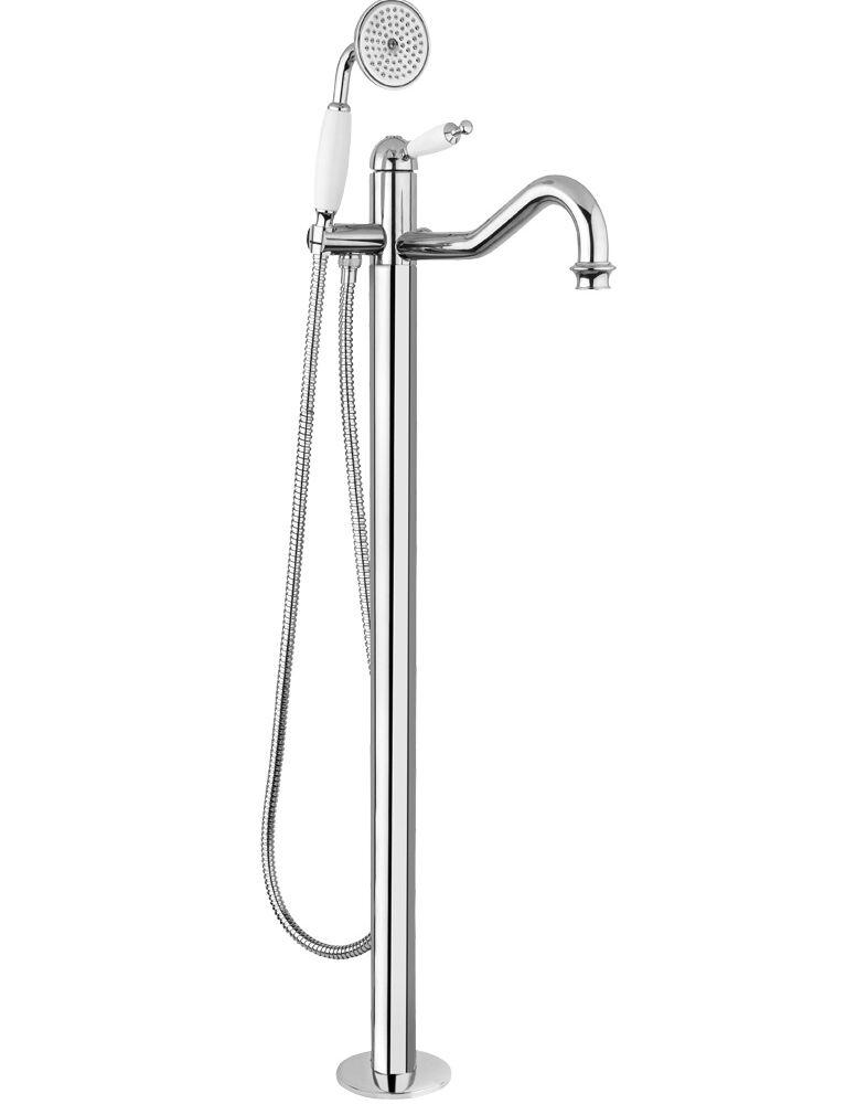 Gaia Mobili - complementi - Canterbury - rubinetteria - RB6360 - Monocomando a pavimento per vasca