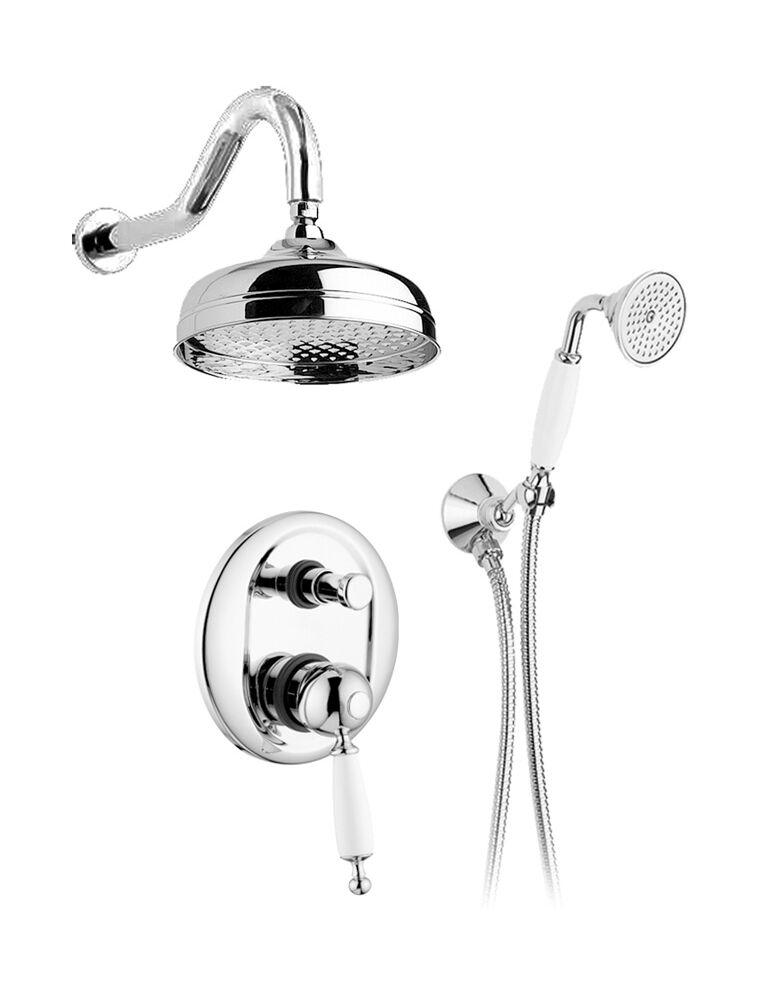 Gaia Mobili - complementi - Canterbury - rubinetteria - RB6398 - Gruppo doccia incasso con doccetta e soffione