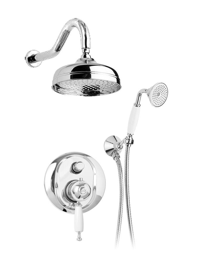Gaia Mobili - complementi - Canterbury - rubinetteria - RB6399 - Gruppo doccia incasso termostatico con doccetta e soffione
