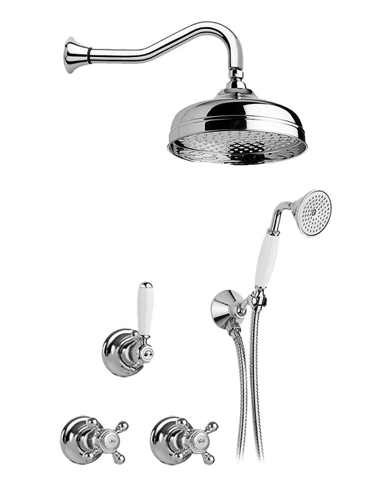 Gaia mobili - collection - faucets - Julia - RN8320 - Built-in shower mixer with shower Ø 200 mm