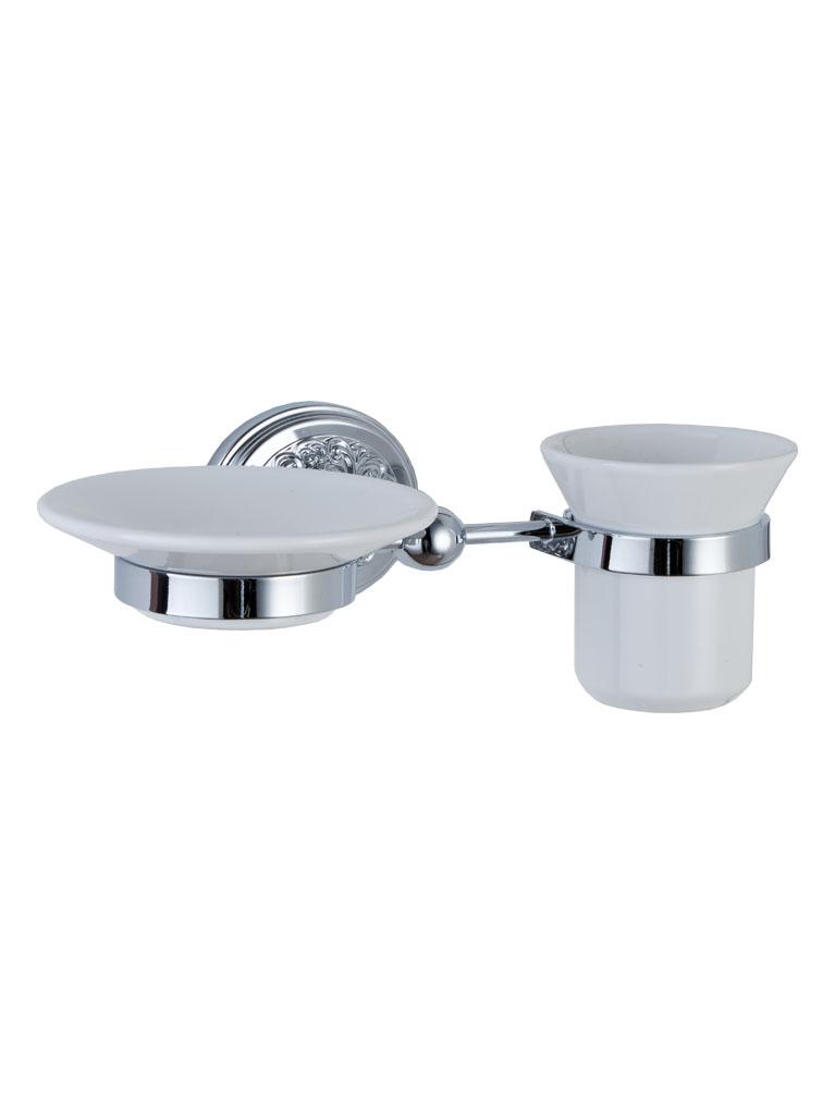 Gaia Mobili - accessori - complementi - Lexington - AMLE04 - Porta bicchiere e sapone