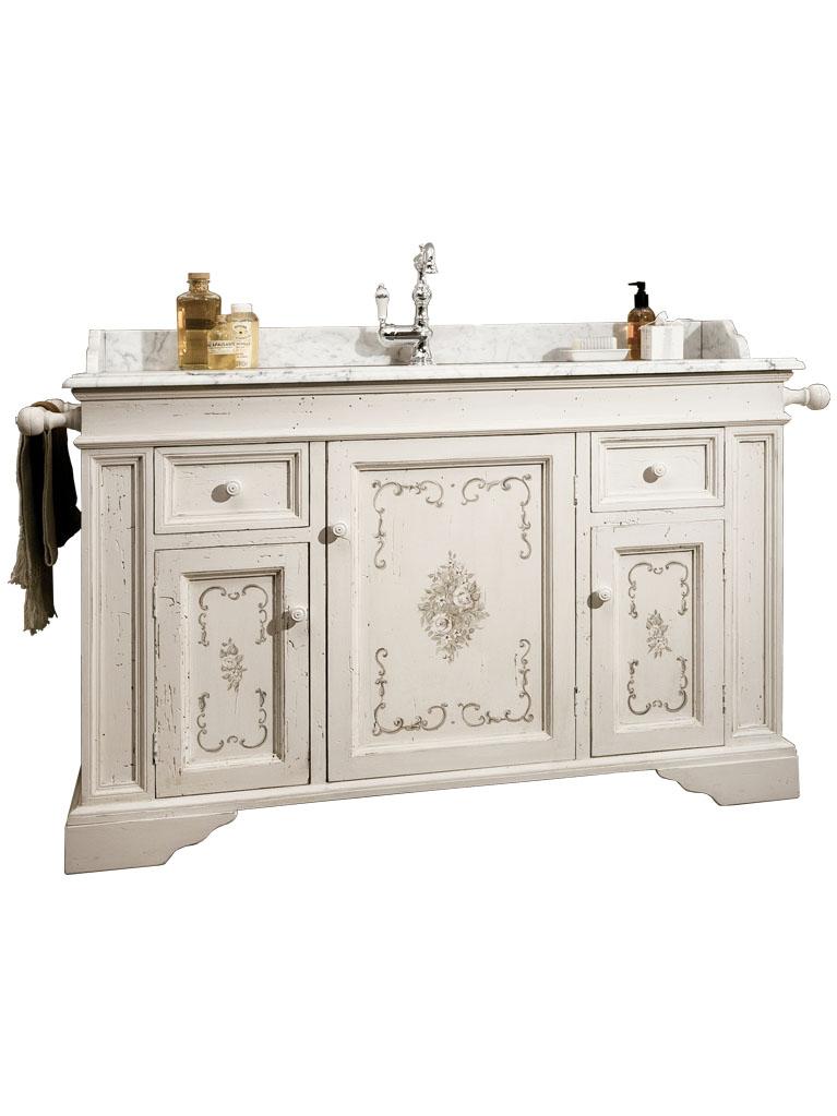 Gaia Mobili - complementi - Classic - mobili - Ariete - Mobile in legno vecchio decorato a mano