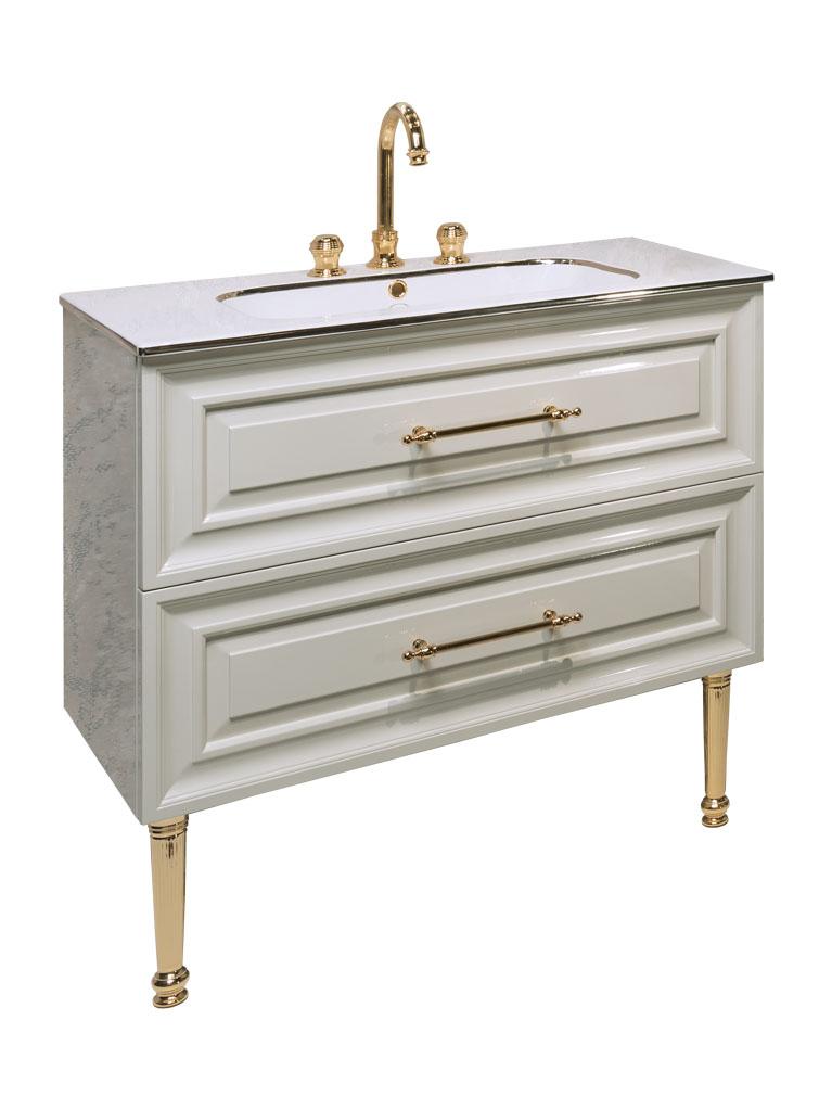 Gaia mobili - complementi - Contemporary - mobili - Armonia - mobile laccato lucido con lavabo in ceramica