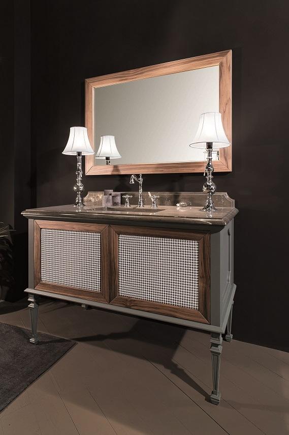 Gaia Mobili - complementi - New Style - mobili - Atelier 1 - Mobile in RAL 7039 Opaco e Canaletto con Tessuto