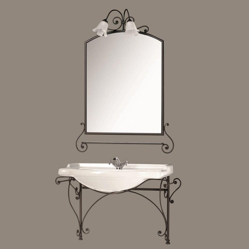 Gaia Mobili - complementi - Classic - mobili - Aurora - Mobile in ferro battuto antracite opaco