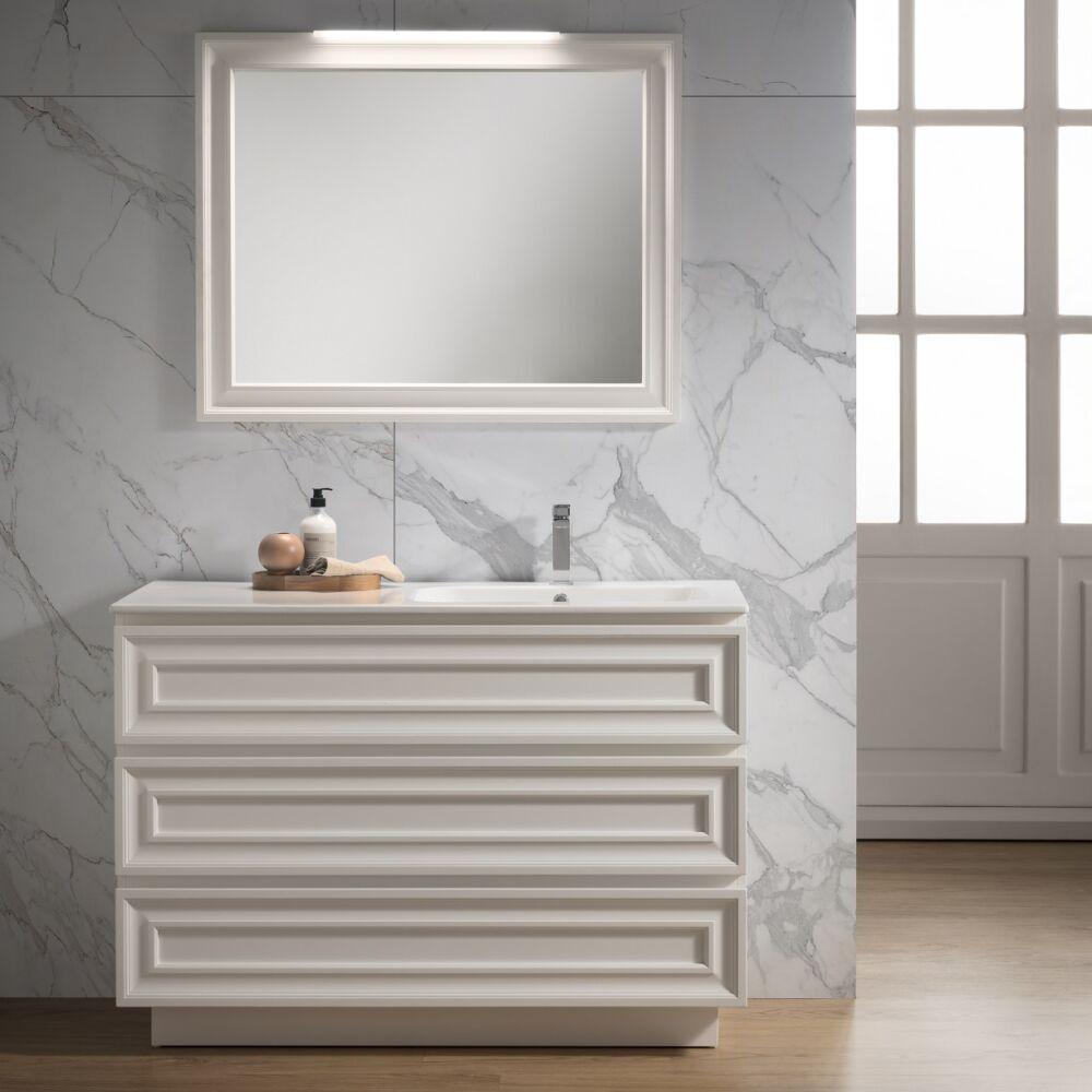 Gaia Mobili - complementi – contemporary – mobili - autoscatto - lavabo in ceramica e mobile laccato opaco