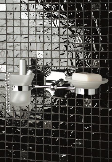 Gaia mobili - accessori - Berkley - complementi - AMBK04 - Porta bicchiere e sapone