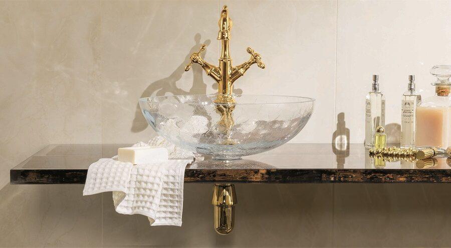 Gaia Mobili - complementi - Luxury - mobili - Briccola 2 - Mobile in Top Porta Lavabo in Briccola Veneziana