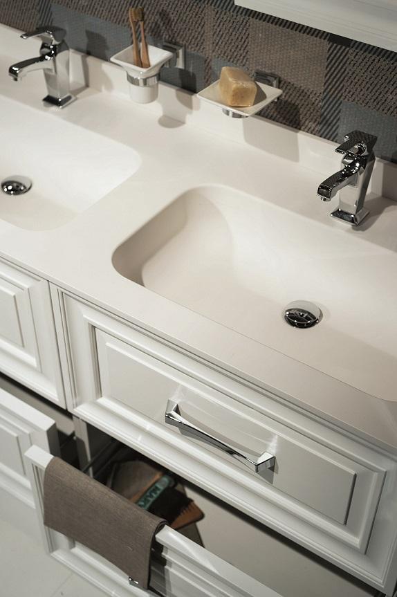 Gaia mobili - complementi - Contemporary - mobili - Cameo - mobile laccato opaco con lavabo in resina
