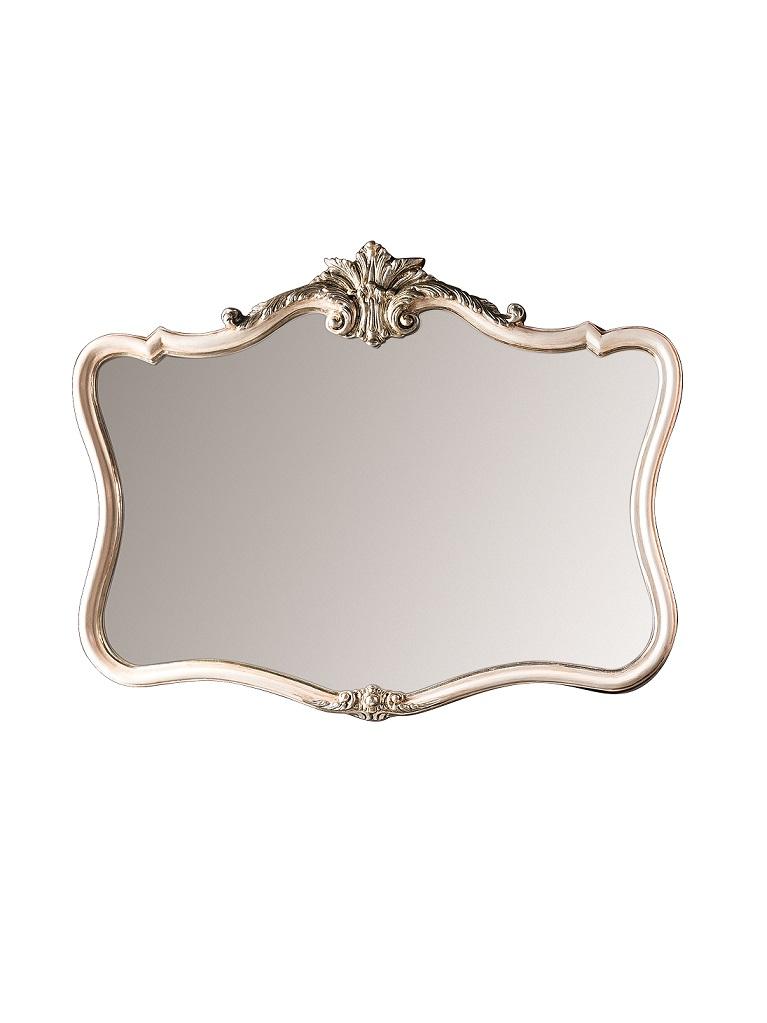 Gaia Mobili - complementi - specchiere - Chagall - 99x79 Specchio Decorata a mano e Foglia Argento Antico