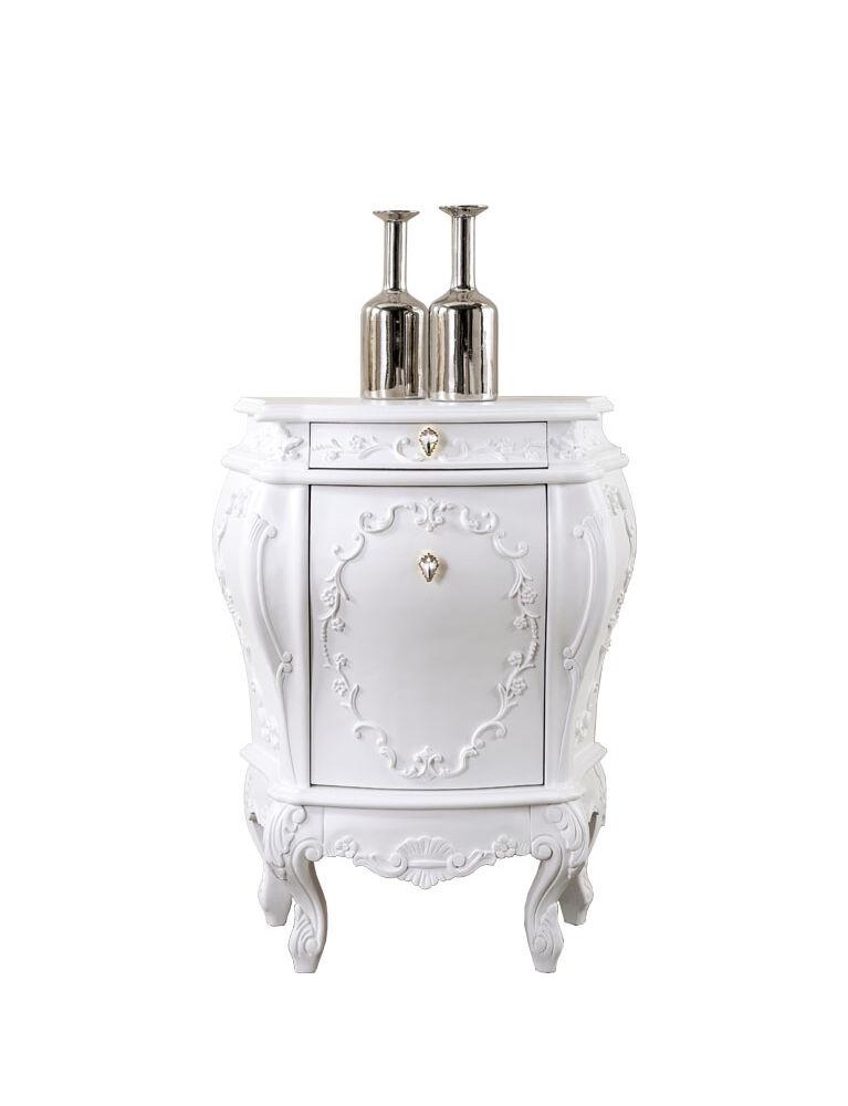 Gaia Mobili-Collection-Furniture-Luxury - mobili - Comodino Doge - mobile in finitura laccato opaco 71x42x86,5