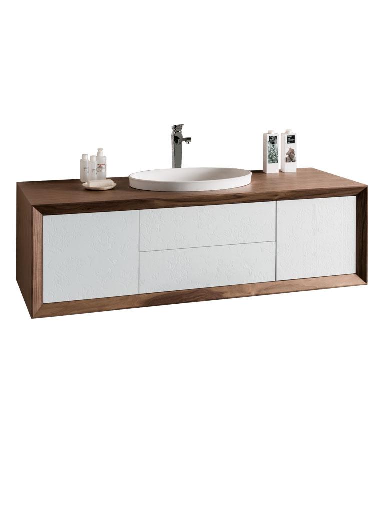 Gaia Mobili - complementi - Contemporary - mobili - Contempora 3 - Mobile in decorato, noce canaletto e RAL 9003 opaco