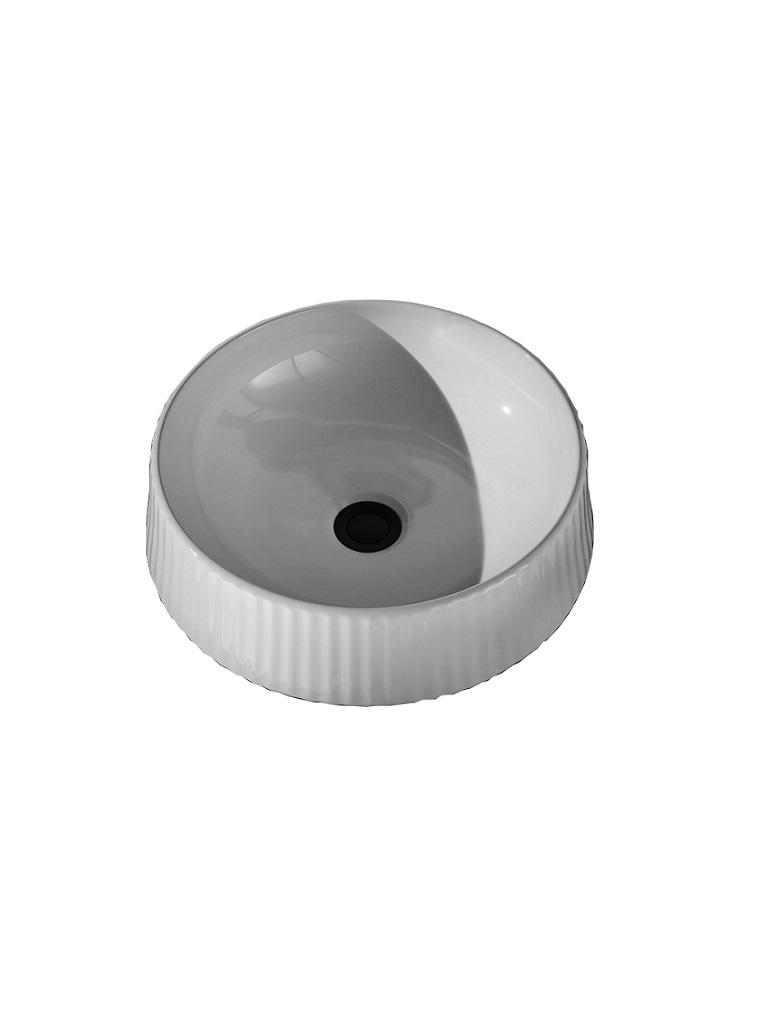 Gaia Mobili - complementi - lavabi - lavabi ceramica - CYLINDER - lavabo in ceramica da appoggio cm 42x42x13h