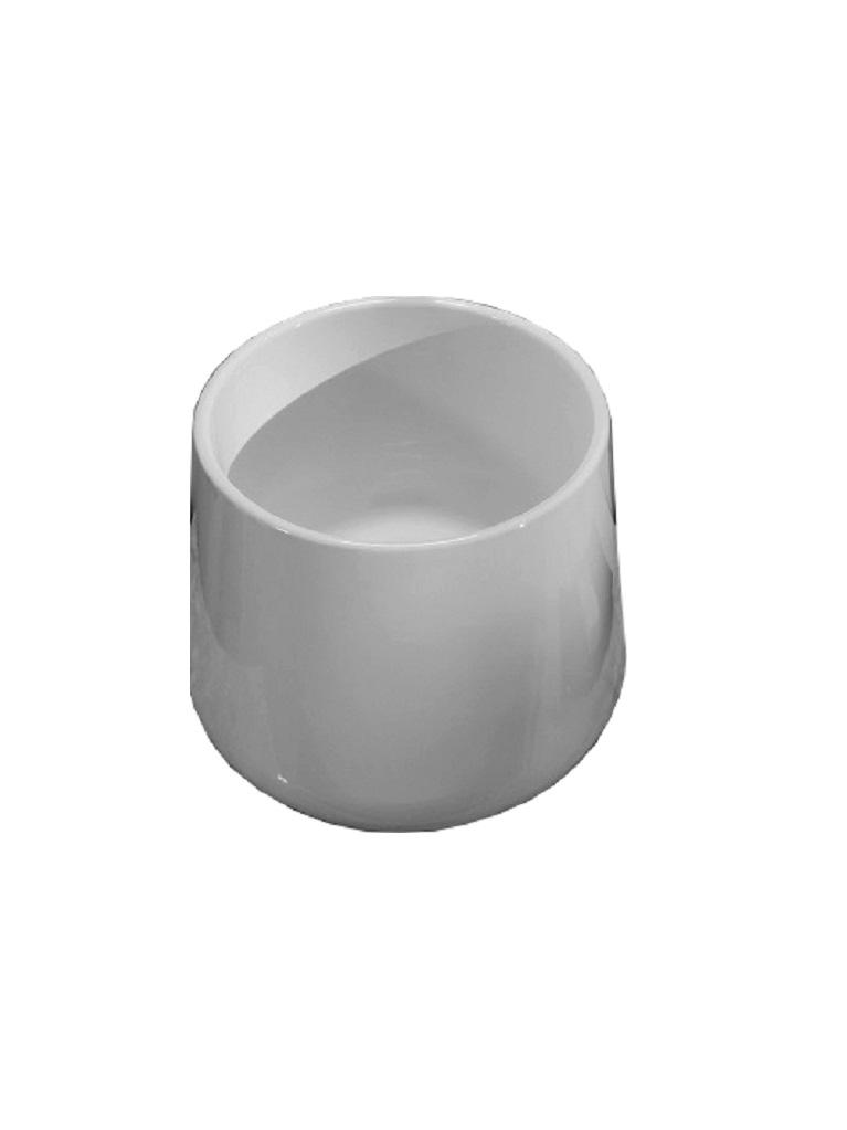 Gaia Mobili - complementi - lavabi - lavabi ceramica - DEEP - lavabo in ceramica da appoggio cm 42x42x35h