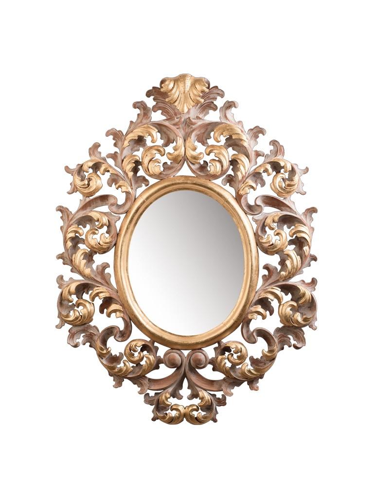 Gaia Mobili - complementi - specchiere - Delacroix - 74x98 Specchio finitura decapè e foglia oro