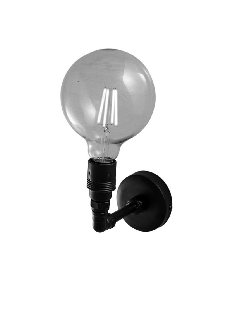 Gaia Mobili – complementi – illuminazione - APAM80 Edison - applique con lampadina inclusa
