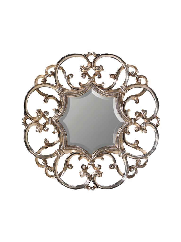 Gaia Mobili - complementi - specchiere - Edit - 90x90 Specchio Foglia Argento Anticato