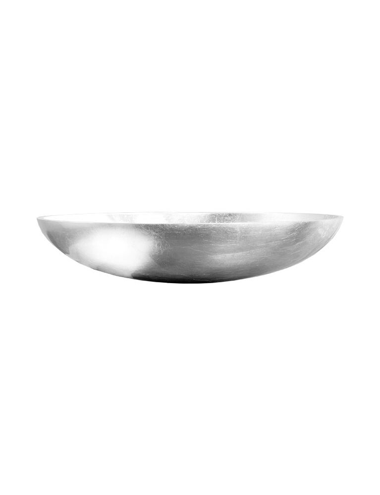 Gaia Mobili - complementi - lavabi - lavabi resina - ELLISSE1 - lavabo in resina da appoggio in foglia argento