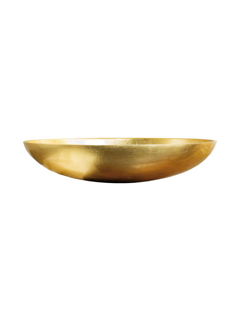 ELLISSE2 - lavabo in resina da appoggio in foglia oro