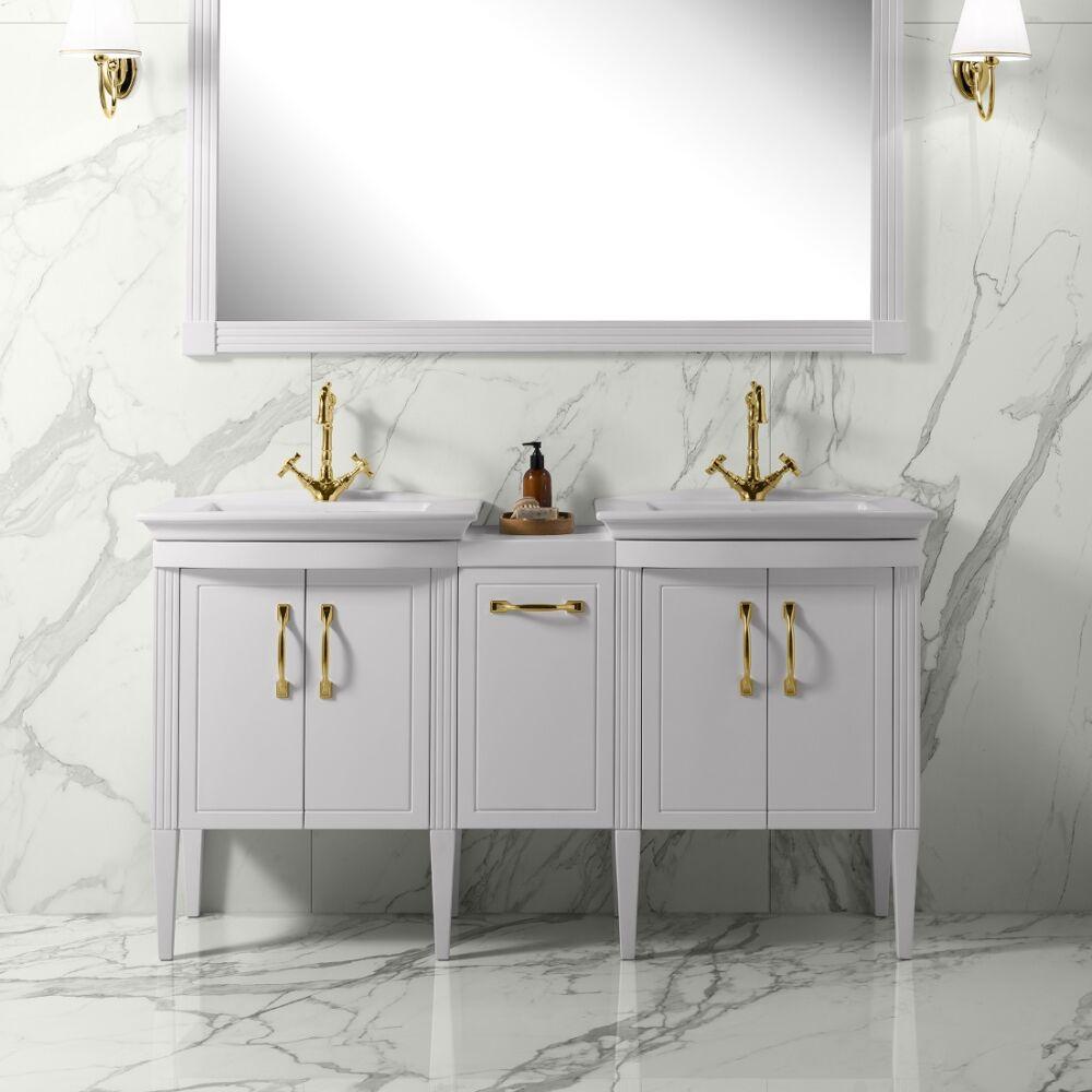 Gaia Mobili - complementi - luxury - mobili - embassy 2 - lavabo in ceramica con mobile laccato