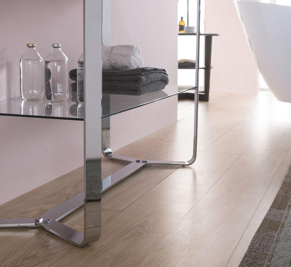 Gaia Mobili - complementi - mobili - new style - flat 2 - lavabo in resina con mobile in ottone cromato