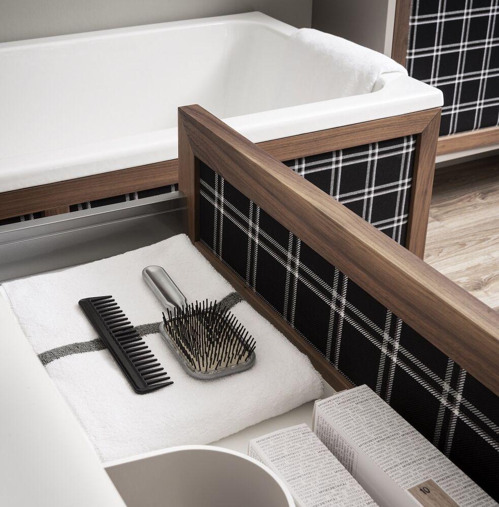 Gaia Mobili-Collection-Furniture-New Style-Loft - mobile in tessuto e noce canaletto laccatura2