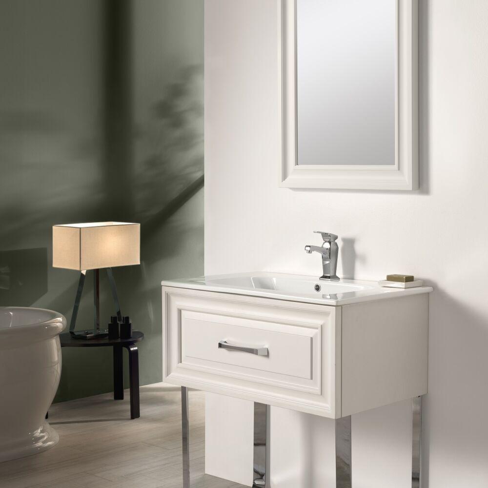 Gaia Mobili - complementi – mobili – new style - flat 1 - lavabo in ceramica con mobile in legno laccato