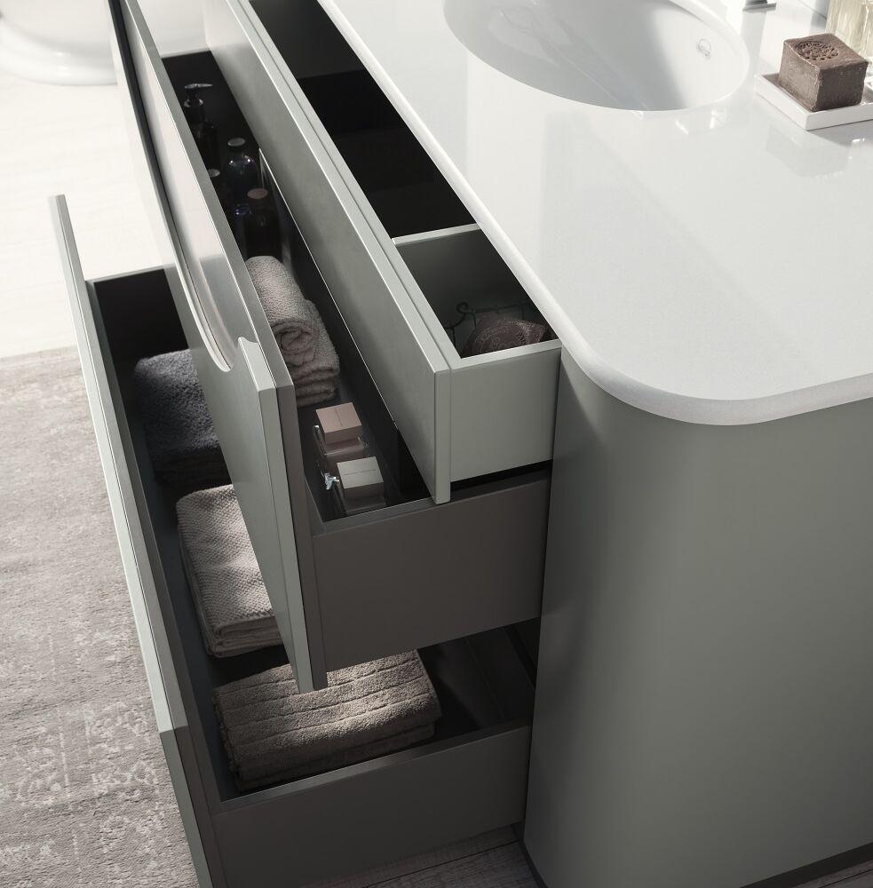 Gaia Mobili - complementi - mobili - new style - smile - lavabo in ceramica con top in marmo tecnico