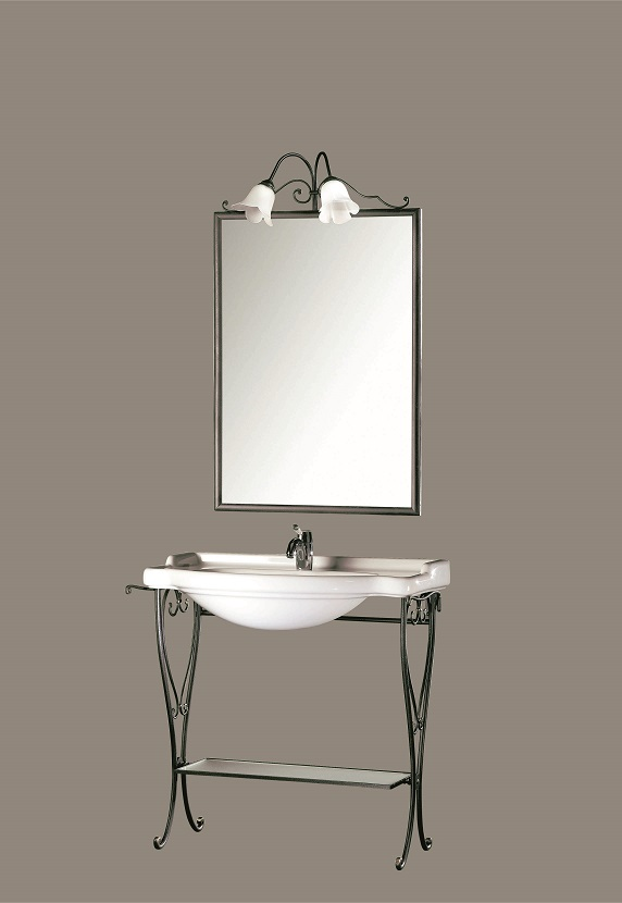 Gaia Mobili - complementi - Classic - mobili - Giada - Mobile in ferro battuto antracite/bronzo