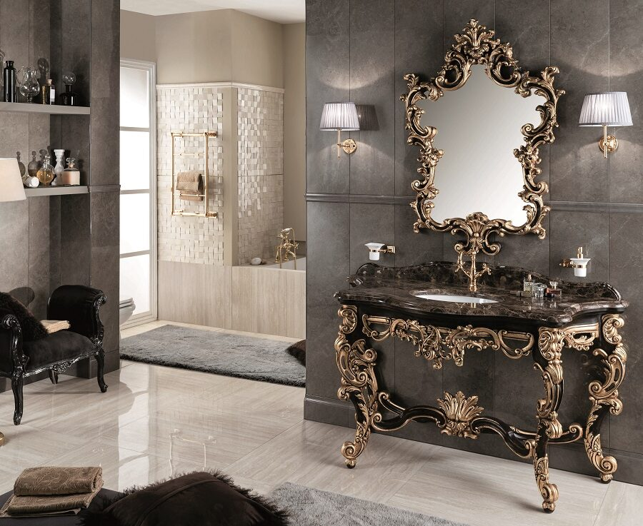 Gaia Mobili - complementi - Luxury - mobili - Gondola 2 - Mobile in Decorato a Mano e Foglia Oro Antico