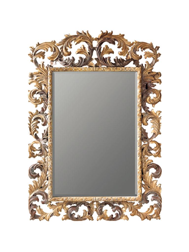 Gaia Mobili - complementi - specchiere - Herbert - 140x210 Specchio Decorata a mano e Foglia Oro