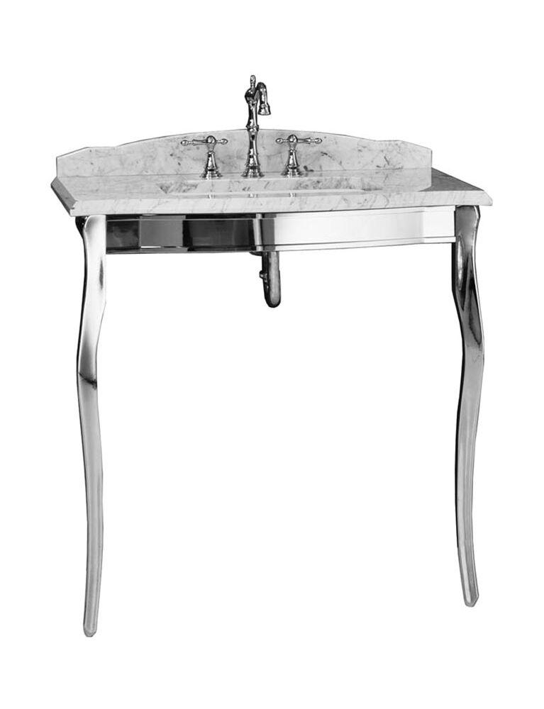Gaia Mobili - collection - furniture - englysh style - Jasmine - Console in chrome aluminum