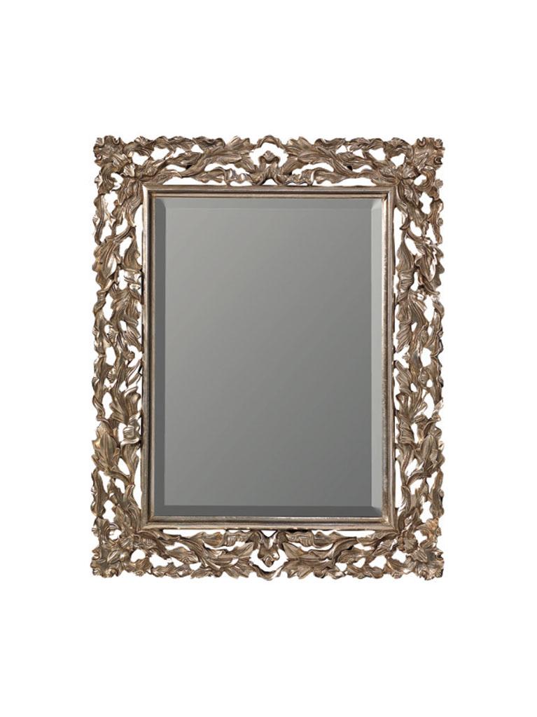 Gaia Mobili - complementi - specchiere - Judie - 78x98 Specchio Foglia Argento Anticato