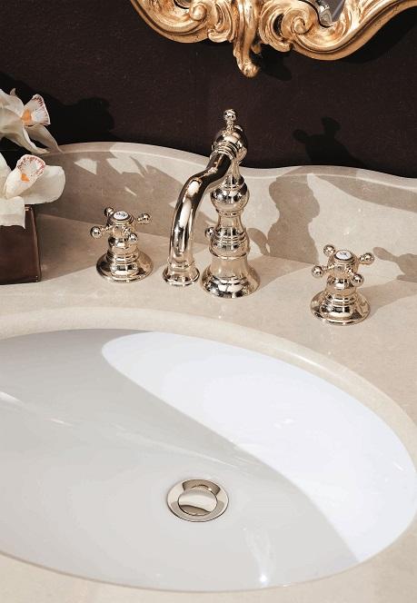 Gaia Mobili - complementi - Julia - rubinetteria - RN8312 - Batteria 3 fori lavabo