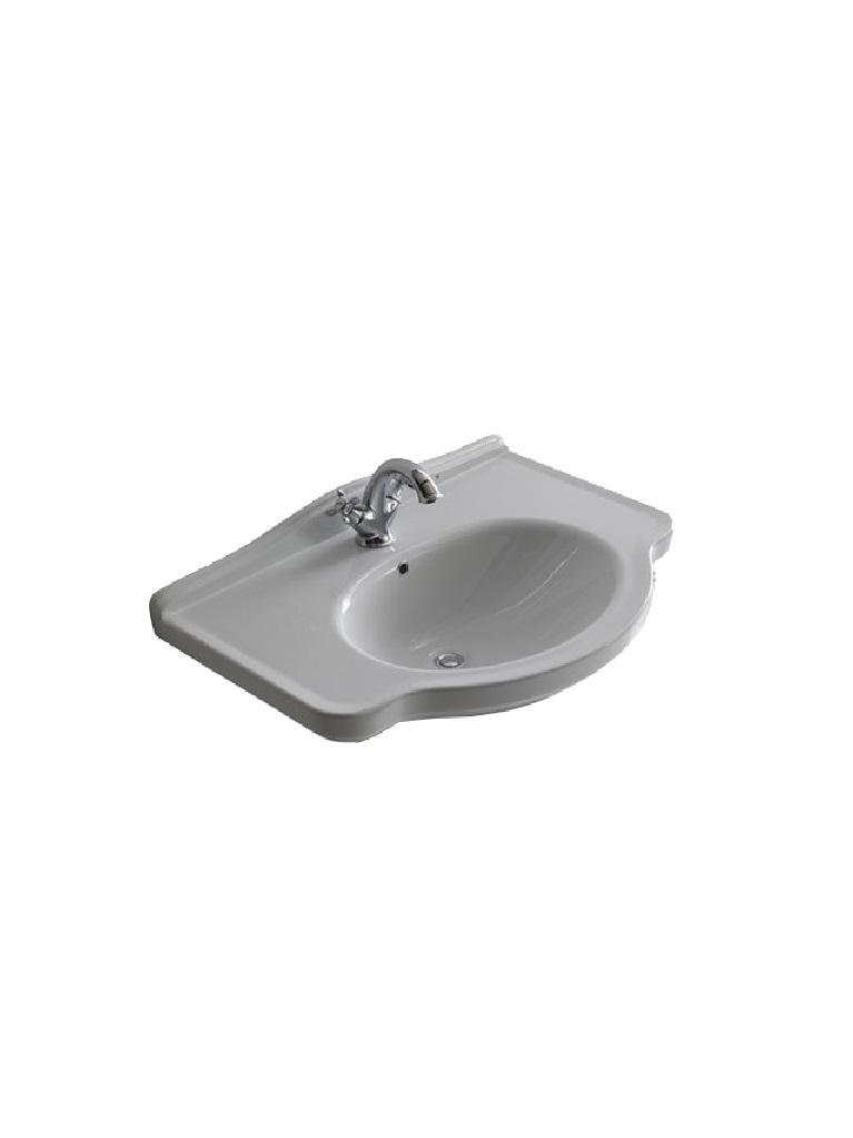 Gaia Mobili - complementi - lavabi - lavabi ceramica - LAVAB55ET - lavabo in ceramica cm 55x44