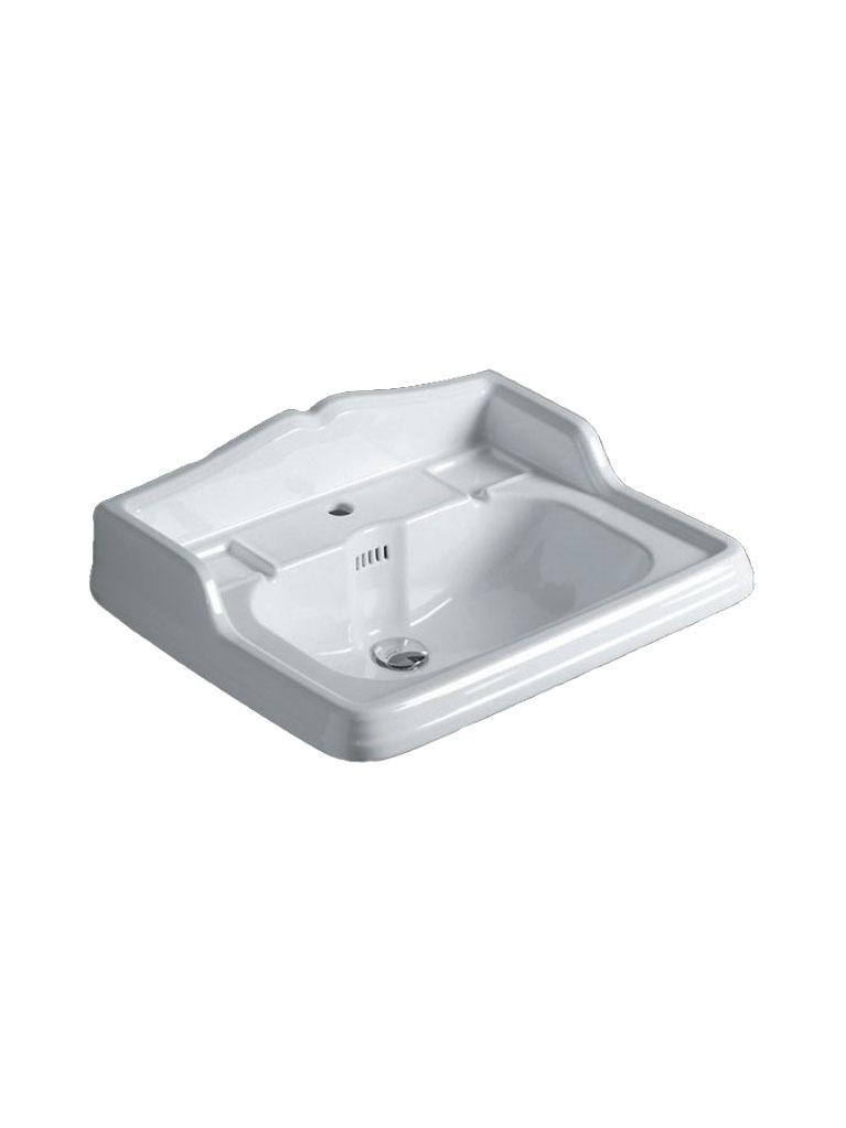 Gaia Mobili - complementi - lavabi - lavabi ceramica - LAVAB73S - Lavabo in ceramica cm 73x54