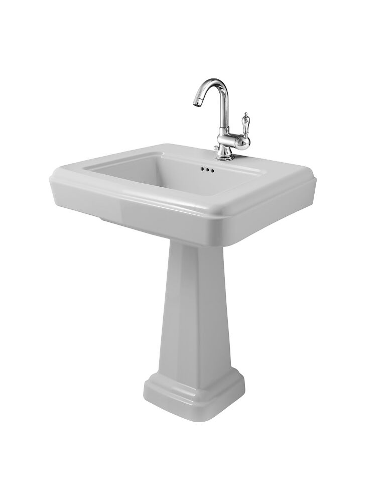 Gaia Mobili - complementi - sanitari - Stone - LAVAB75B+PHST09 - Stone lavabo in ceramica con colonna