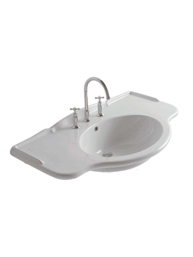 Gaia Mobili - complementi - lavabi - lavabi ceramica - LAVAB90G - Lavabo in ceramica cm 90x56