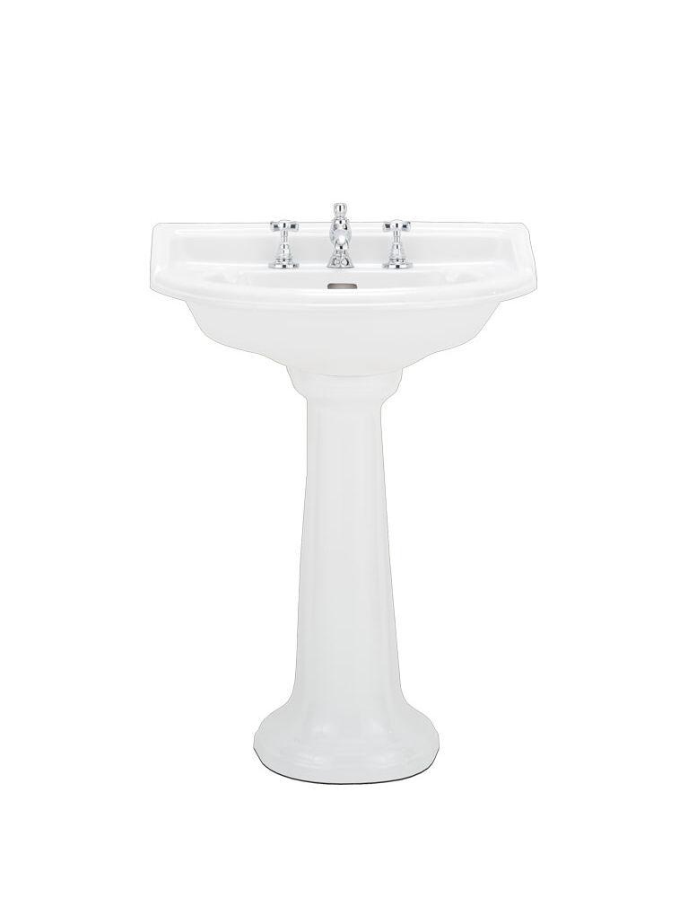 Gaia Mobili - complementi - Oxford - sanitari - PHOX05 + PHOX09 - Lavabo in ceramica con colonna