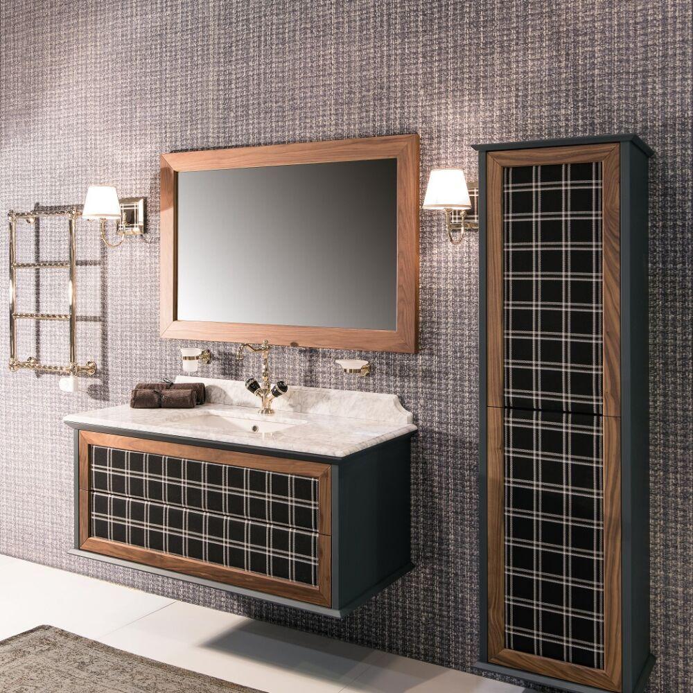 Gaia Mobili-Collection-Furniture-New Style-Loft - mobile in tessuto e noce canaletto laccatura1