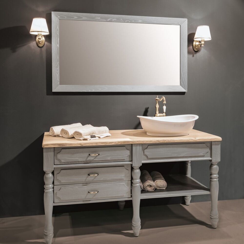 Gaia Mobili - complementi - industrial - mobili - loira 2 - lavabo in appoggio di ceramica