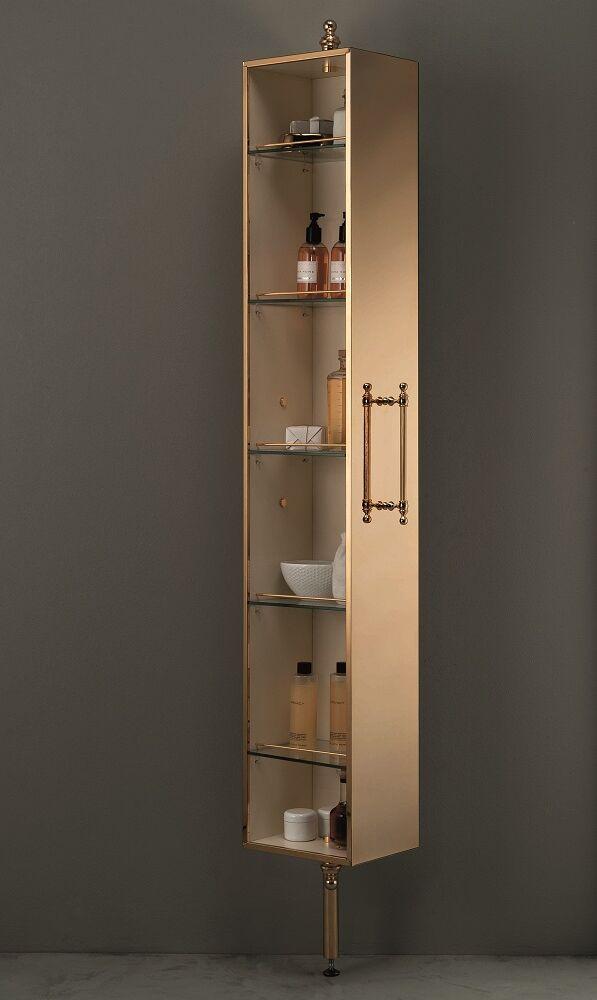 Gaia mobili - complementi - English style - mobili - Lucie Pavimento - ASLU05 Colonna Girevole a Pavimento con Specchio Cromo