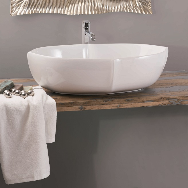 Gaia Mobili - complementi - lavabi - lavabi ceramica - LUXOR - lavabo in ceramica da appoggio