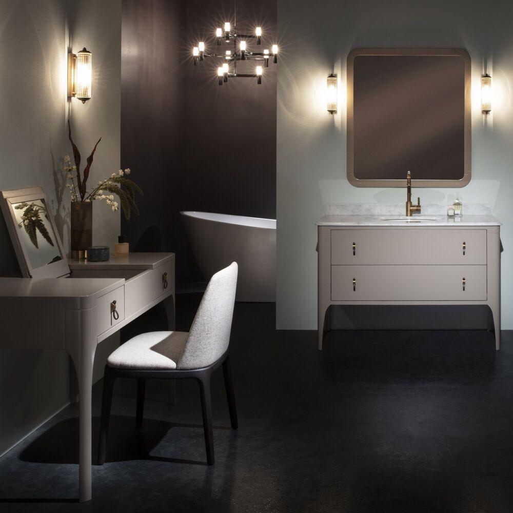 Gaia Mobili - complementi - mobili - new style - majestic - lavabo in ceramica con mobile di noce canaletto e tulipier