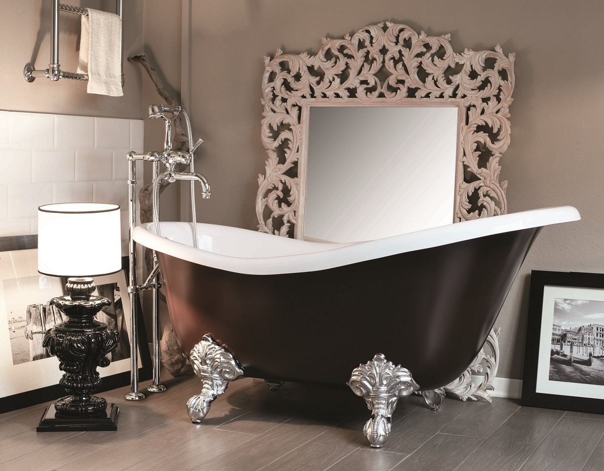 Gaia mobili - collection - bathtubs - Margot - Marble resin bathtub