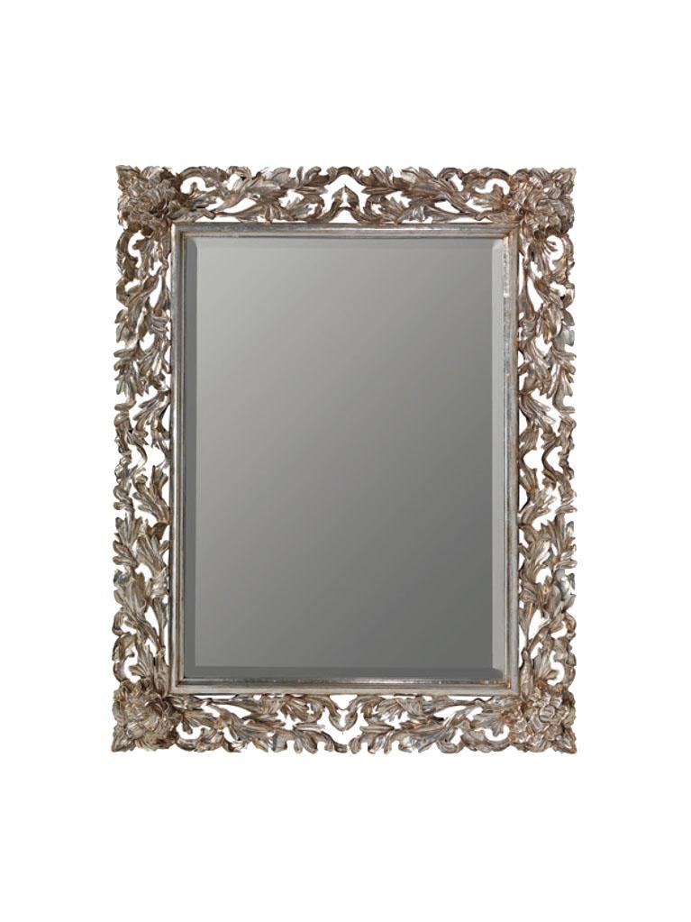 Gaia Mobili - complementi - specchiere - Olivier - 90x120 Specchio Foglia Argento Anticato