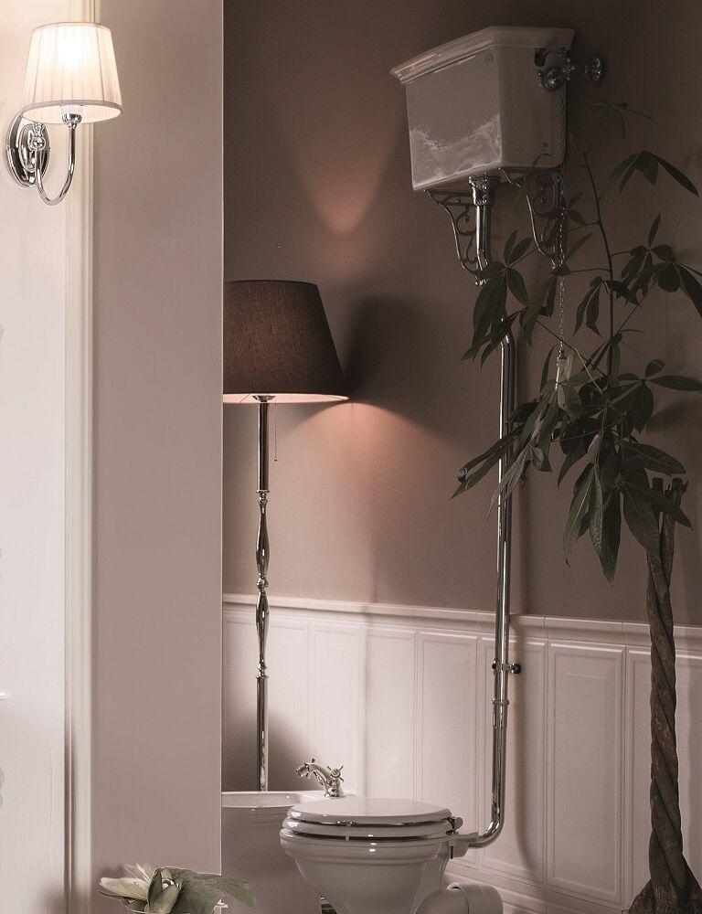 Gaia Mobili - complementi - Oxford - sanitari - PHOX01 + PHOX12 - Vaso in ceramica con Cassetta Alta
