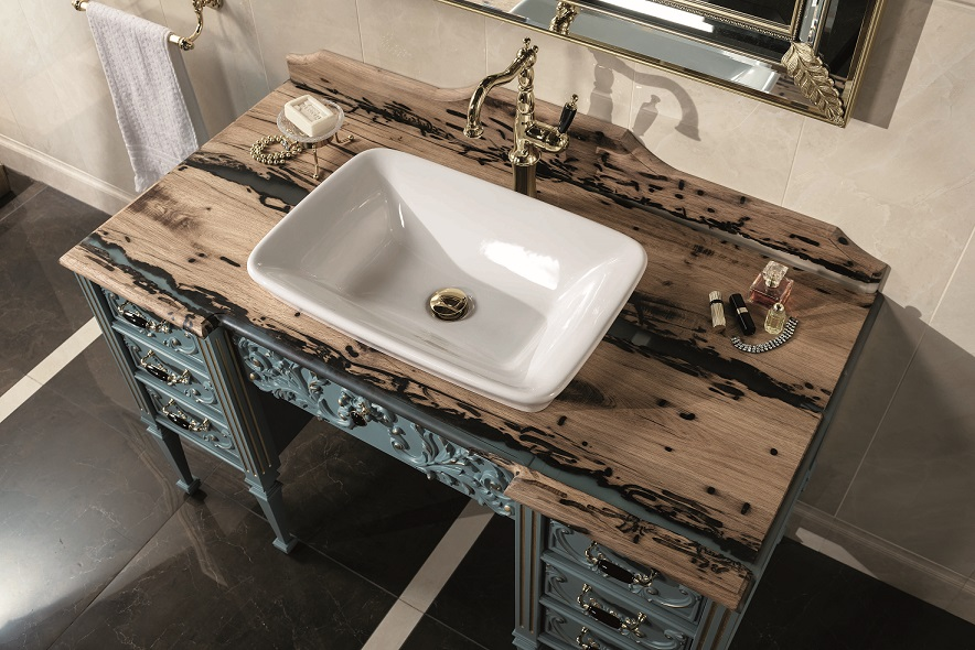 Gaia Mobili - complementi - lavabi - lavabi ceramica - CARNEVALE2 - lavabo in ceramica soprapiano