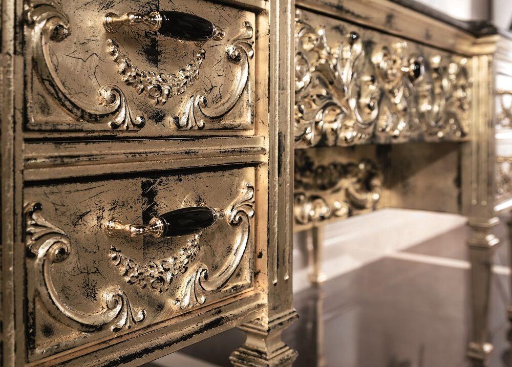 Gaia Mobili - complementi - Luxury - mobili - Impero 2 - Mobile in Foglia Oro spazzolata