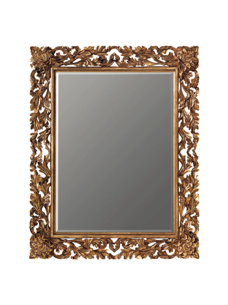 Gaia Mobili - complementi - specchiere - Pascal -140x170 Specchio Foglia Oro Anticata
